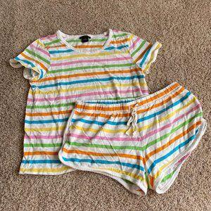 j. crew rainbow pajama set